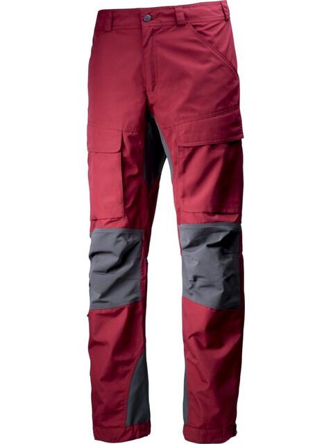 Lundhags Authentic lange broek Heren grijs/rood